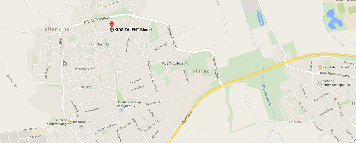 Route naar Kids Talent Bladel