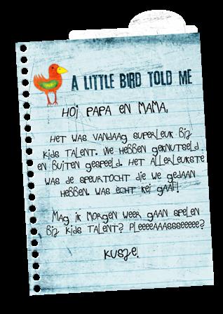 briefje van papa en mama